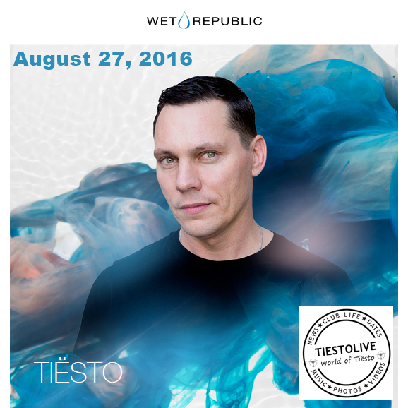Tiësto photos | Wet Republic | Las Vegas, NV - August 27, 2016