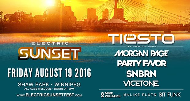 Tiësto photo | Electric Sunset Festival | Winnipeg, Canada - August 19, 2016