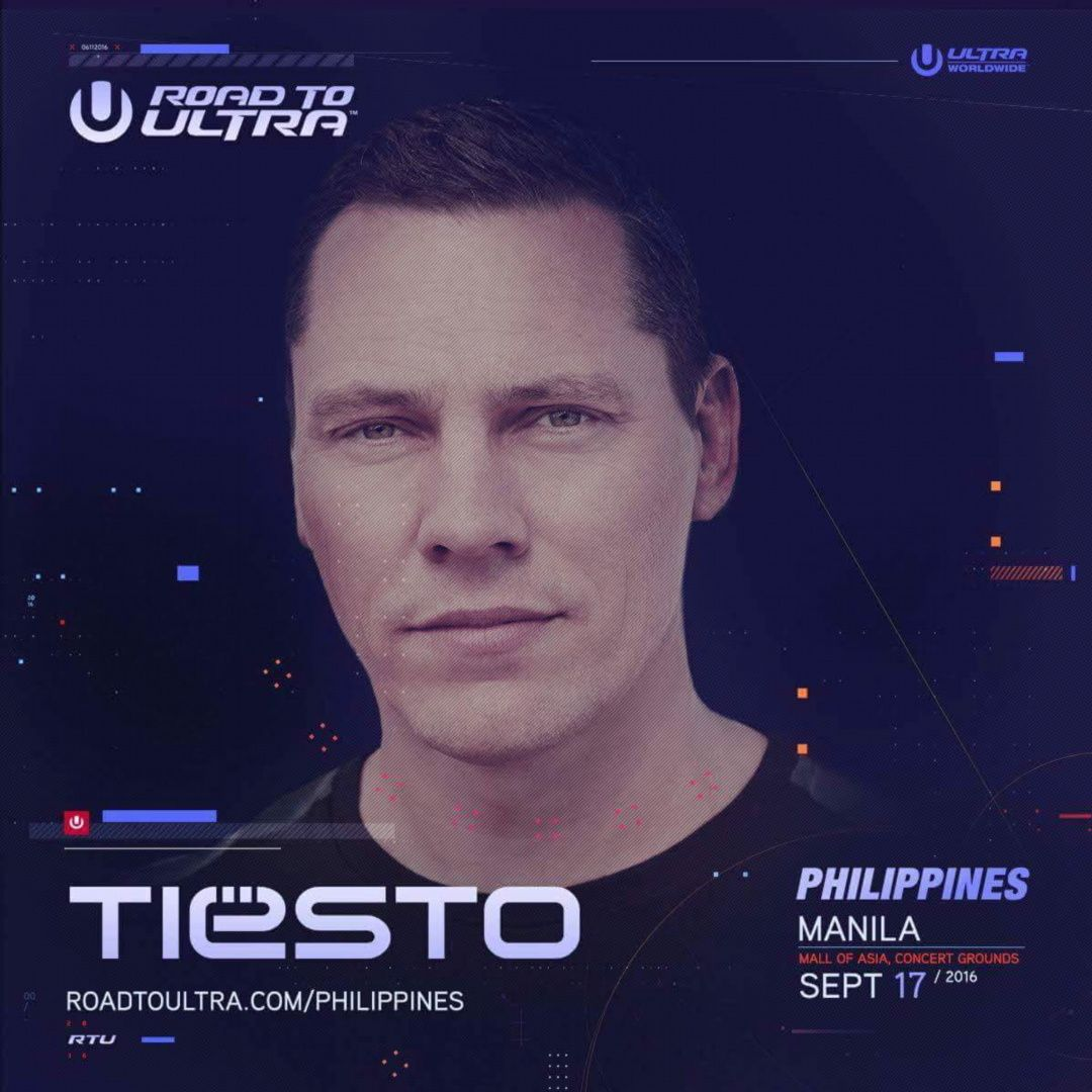 Tiësto photos | Road To Ultra | Manila, Philippines - september 17, 2016