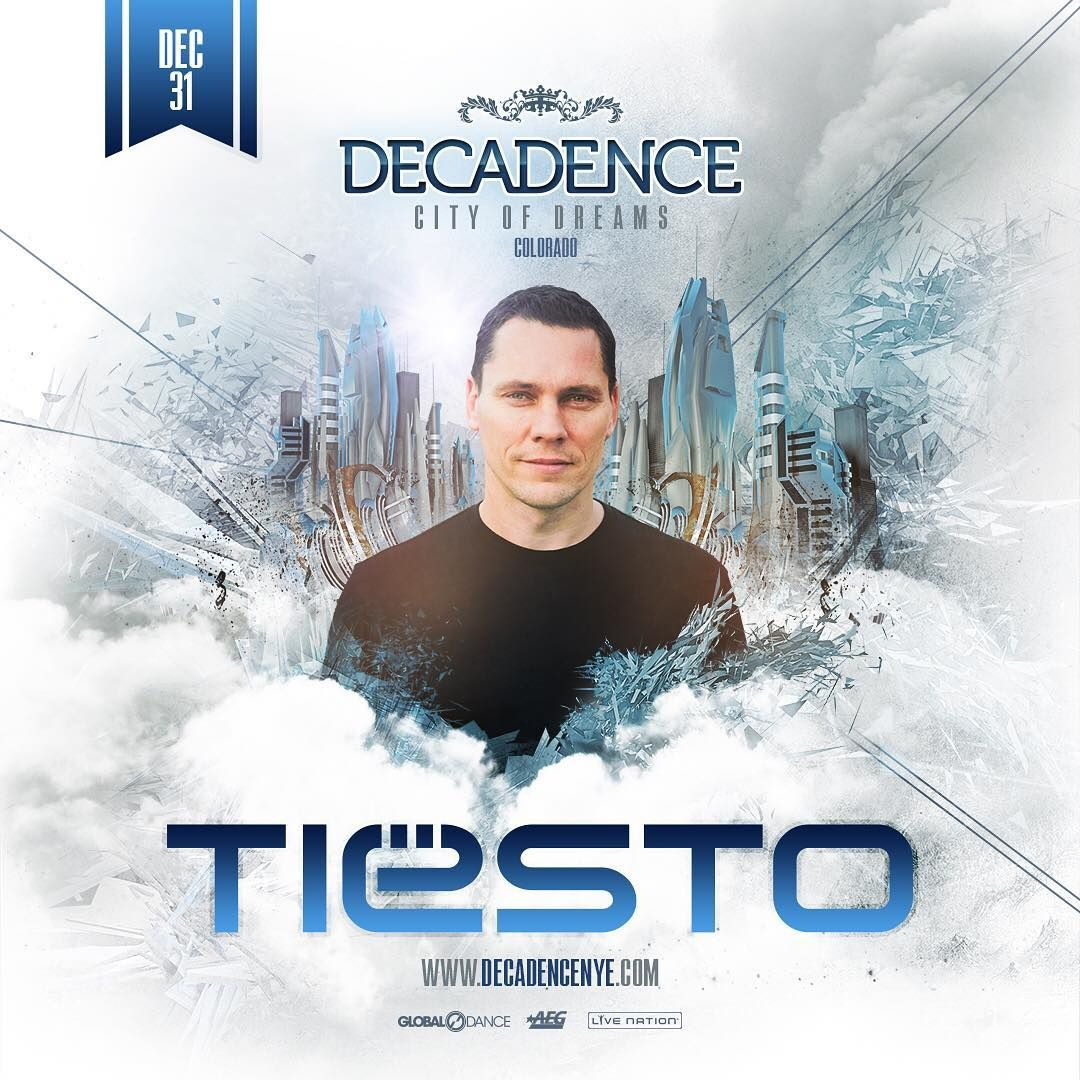 Tiësto date New Years 2017 | Decadence | Denver, Colorado - december 31, 2016