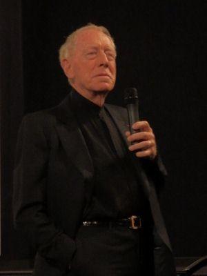 Max von Sydow lors du Festival Lumière le 17 octobre 2012 (photo © Gene Mondon)