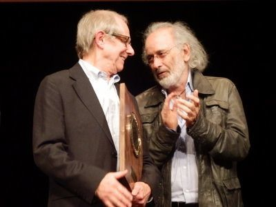 Ken Loach et Jerry Schatzberg le 20 octobre 2012 (photo © Gene Mondon)
