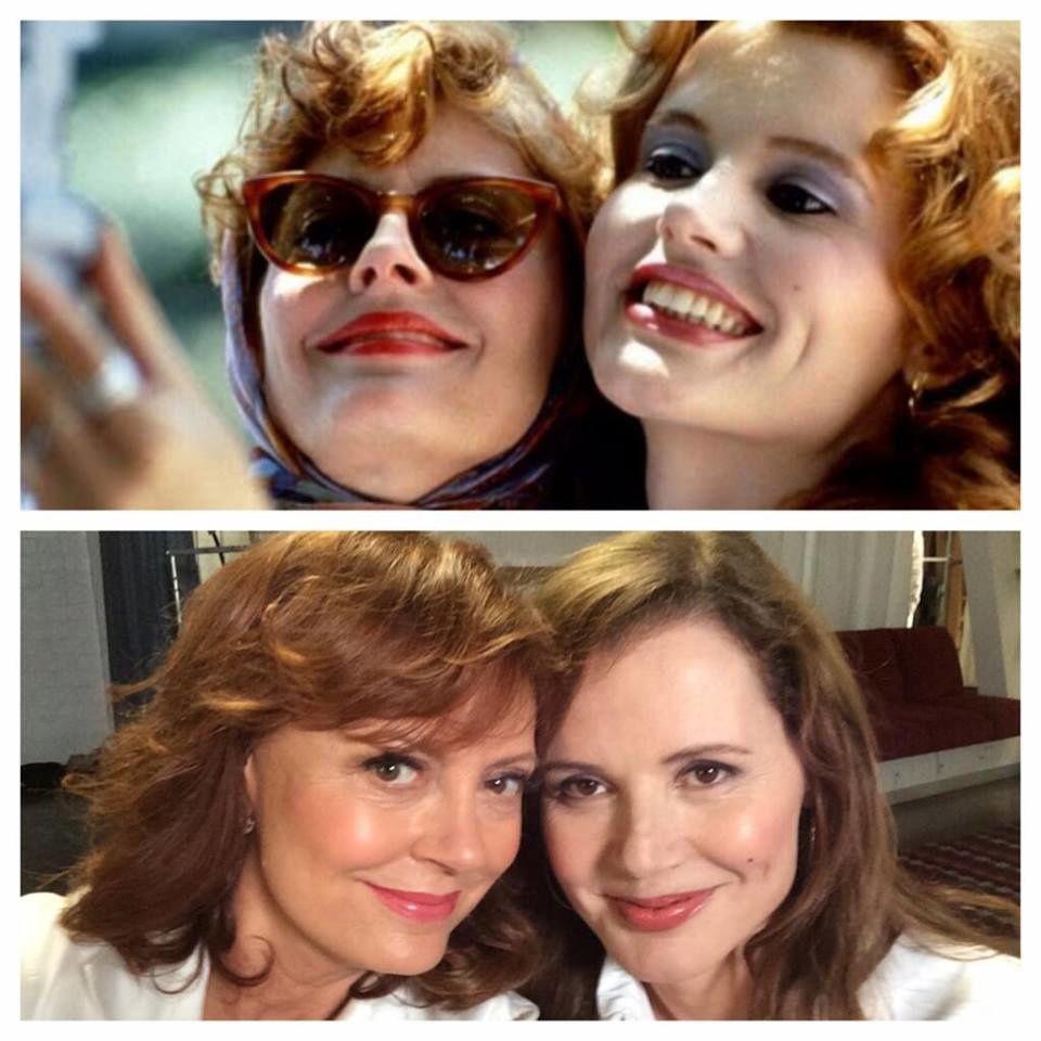"""24 ans après """"Thelma et Louise"""", Susan Sarandon et Geena Davis se photographient à nouveau ! Vous êtes toujours aussi belles, mesdames !"""