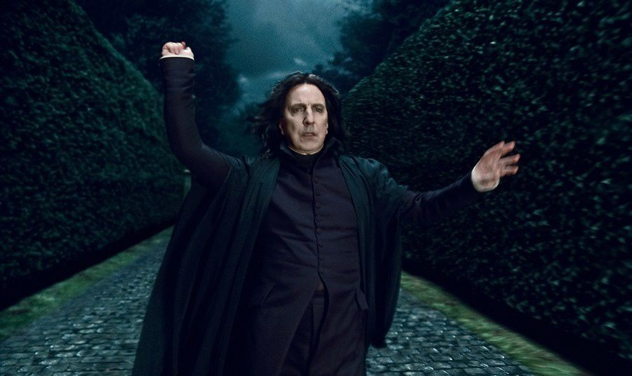 Alan Rickman, interprète de l'énigmatique professeur Severus Rogue dans la saga Harry Potter entre 2001 à 2010