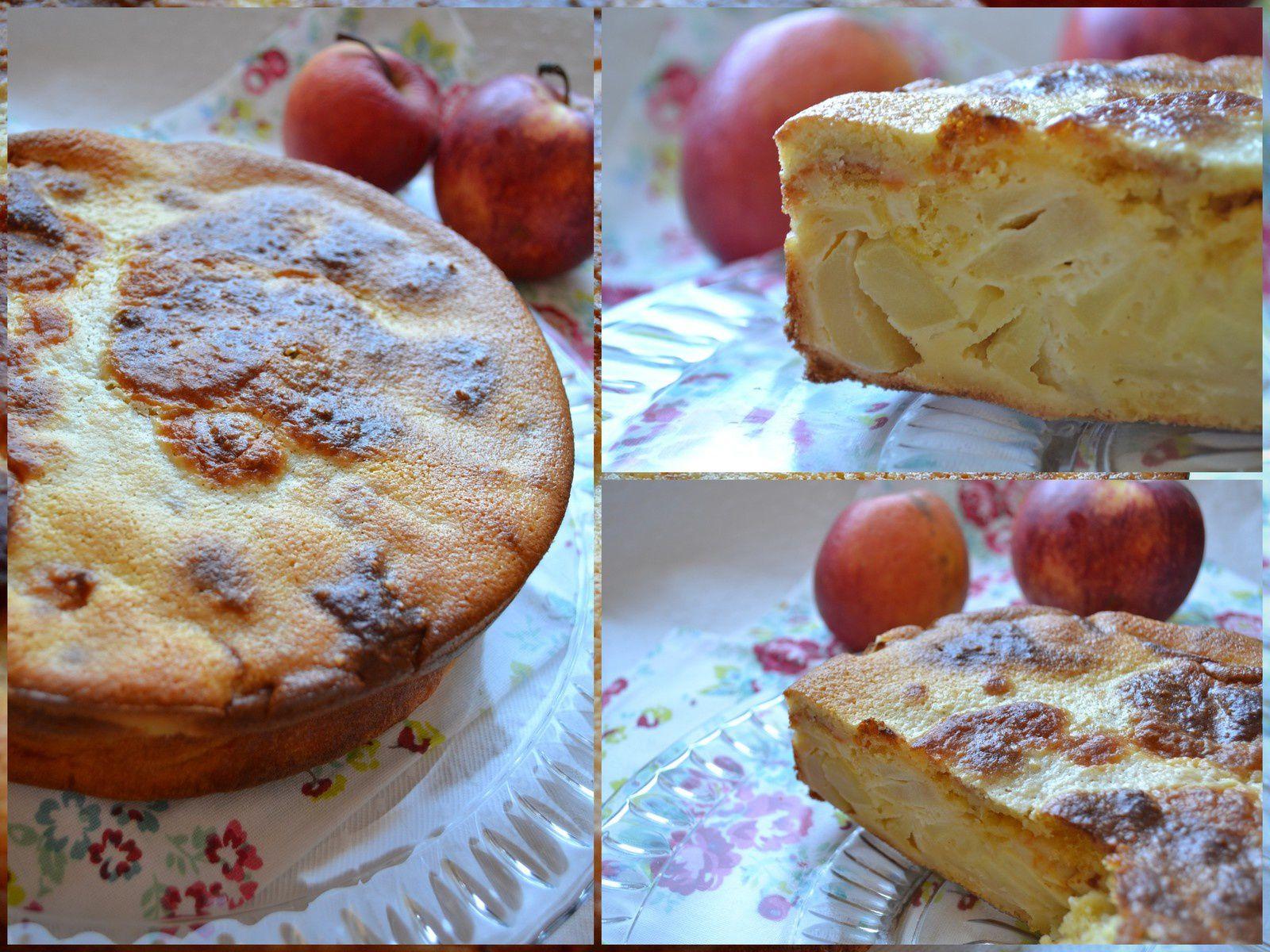 Gâteau aux pommes, orange et son topping à l'amande