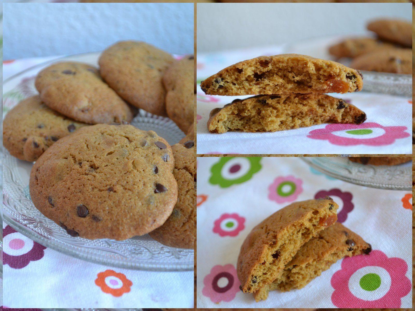 Cookies aux pépites de chocolat et abricots secs - sans beurre