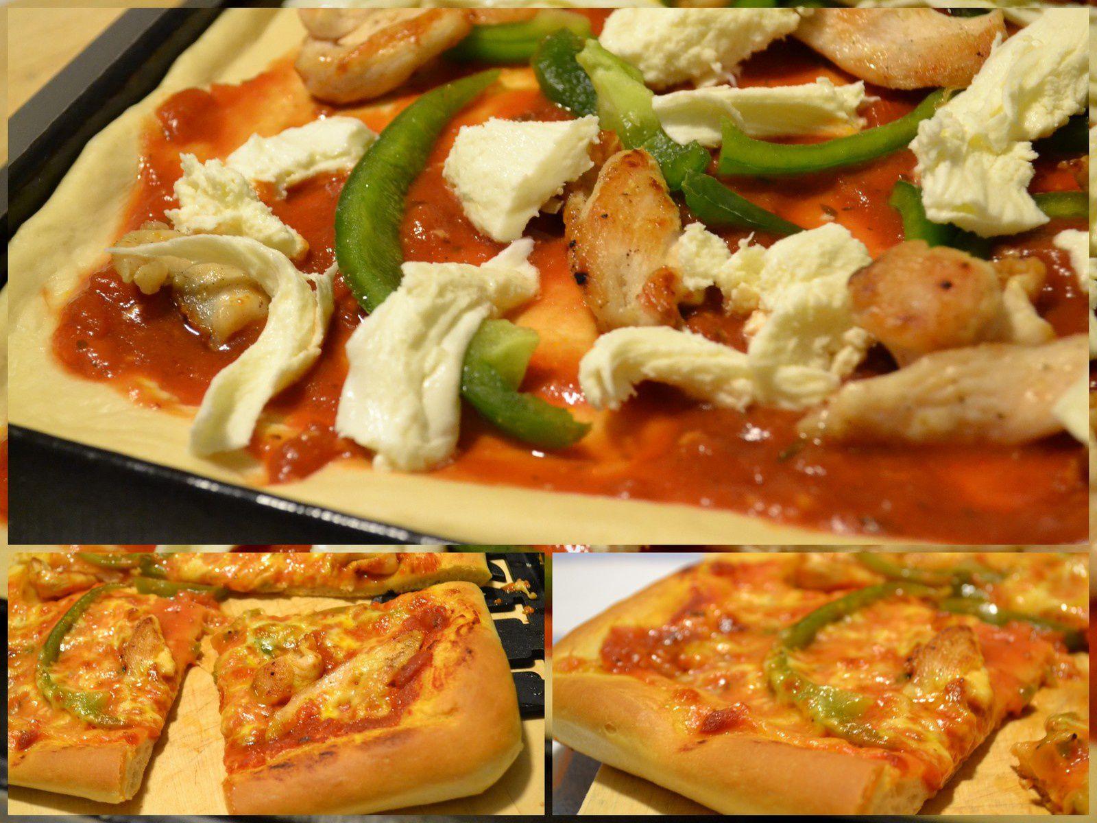 Pizza poulet poivron mozzarella