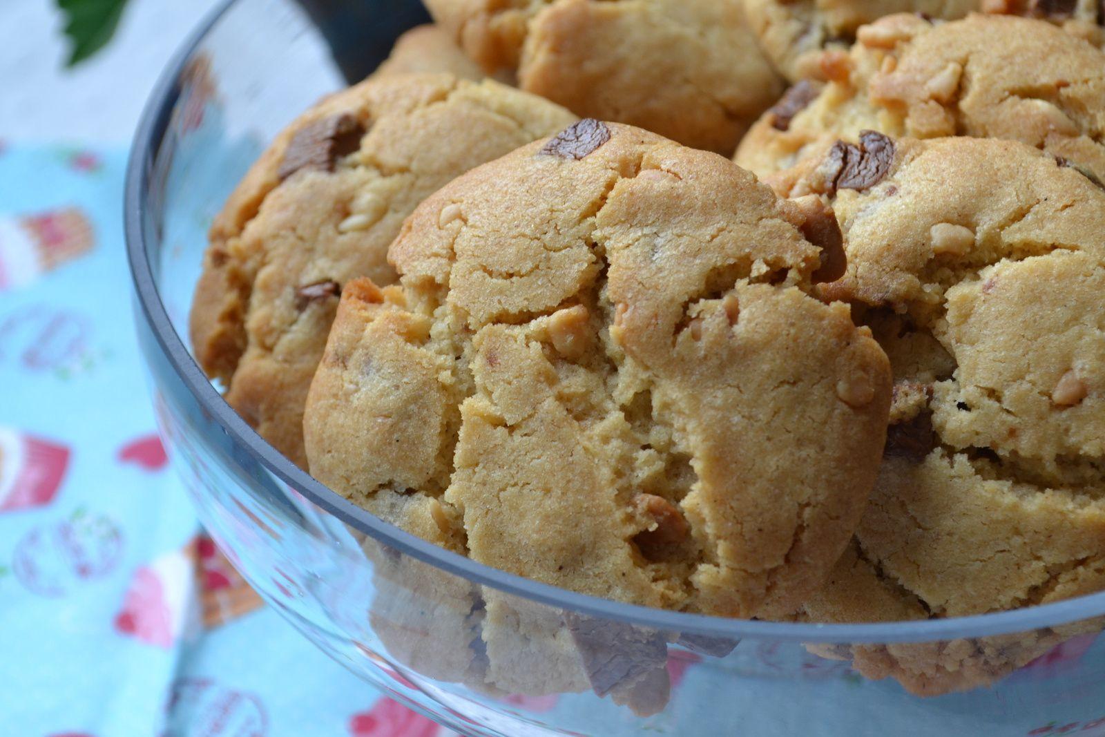 Cookies au beurre de cacahouète et aux chunks chocolat au lait