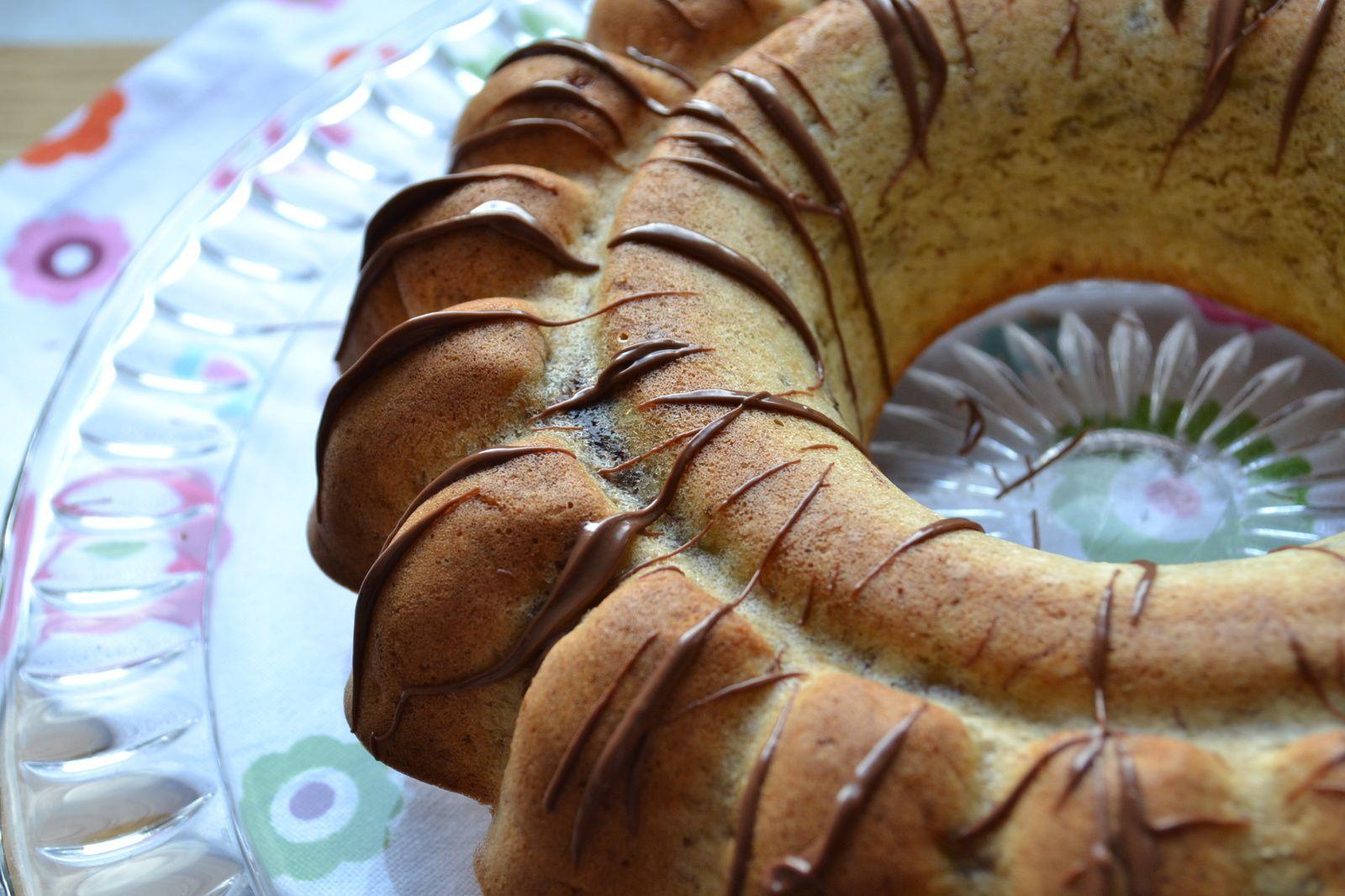 Banana Bread noix de coco et pâte à tartiner au chocolat