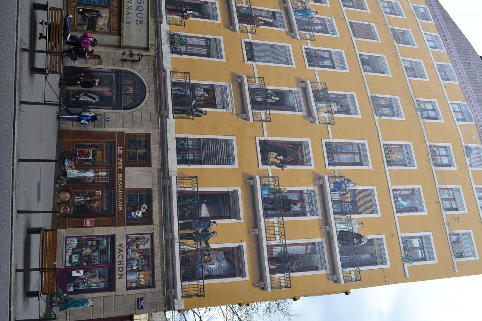Tous les personnages célèbres de Lyon sont représentés ici !