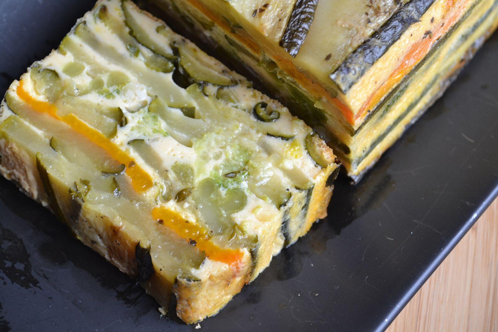 Terrine de courgettes, poivron et brocolis