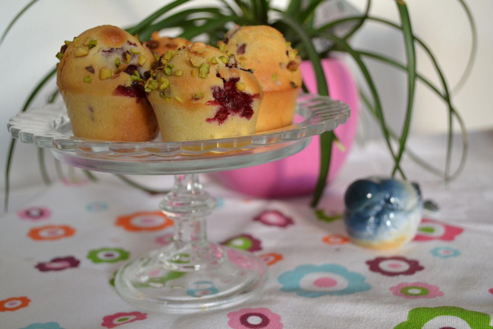 Mini muffins framboises pistaches