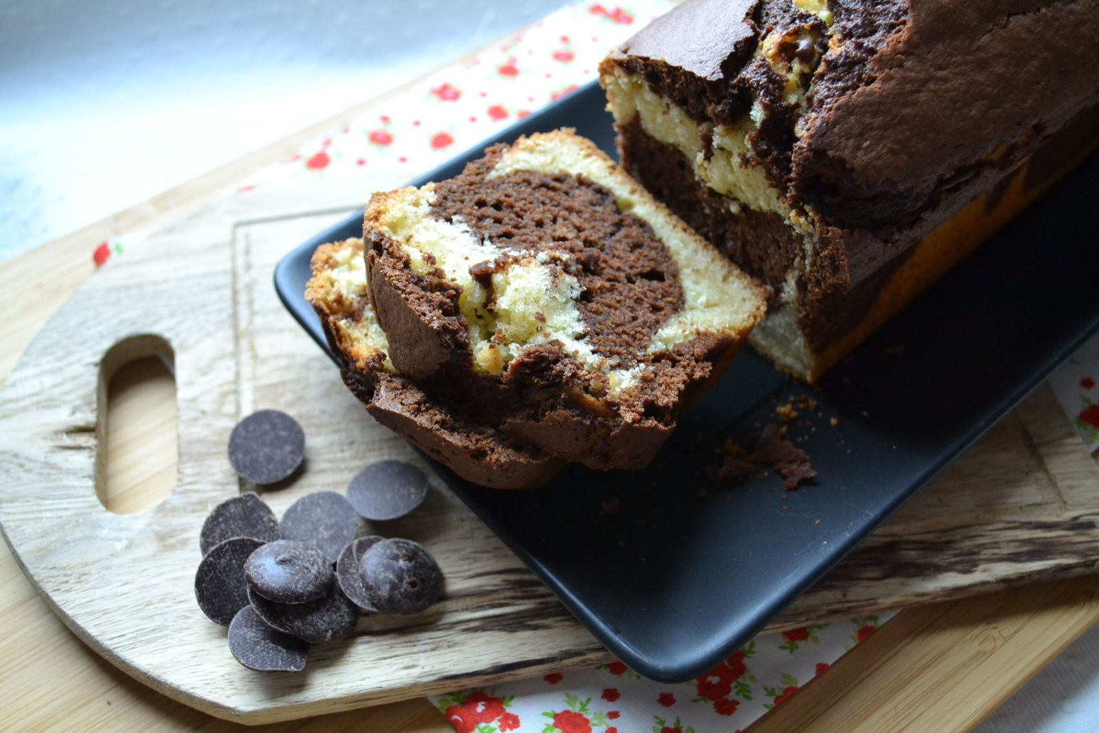Le cake marbré de Carole