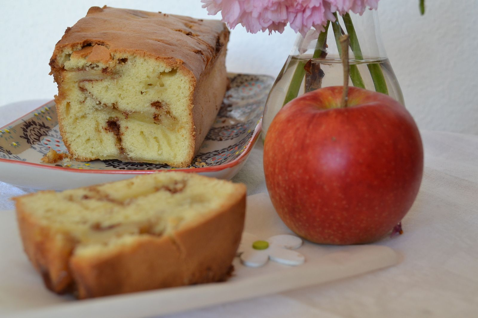 Cake aux pommes et cannelle