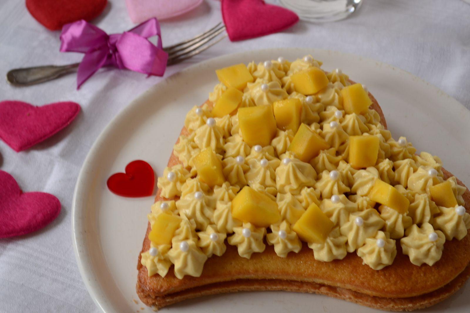 Tarte passion mangue façon Fantastik #saint Valentin