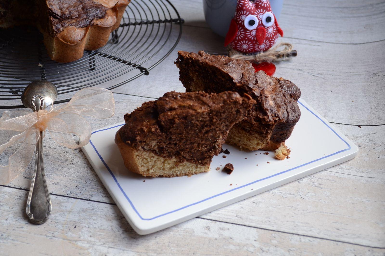 Cake au levain marbré