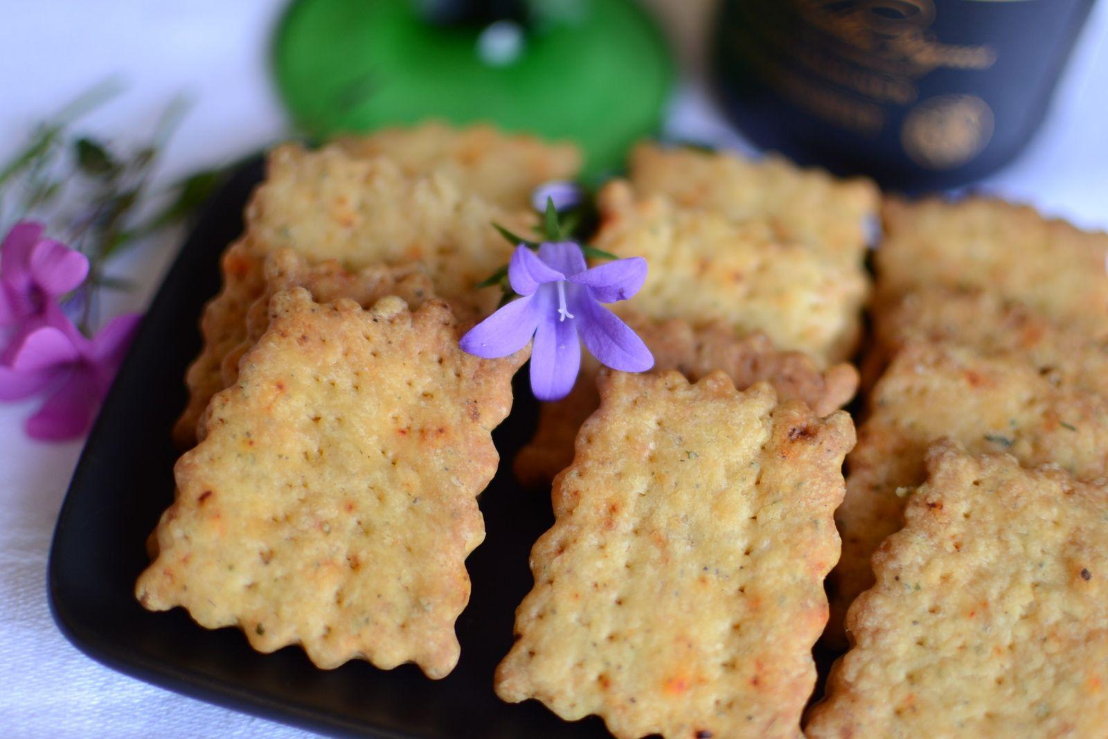 Crackers salés au Piment d'Espelette #Ederki