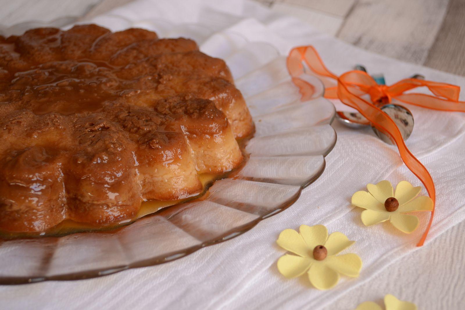 Flan biscuité au caramel
