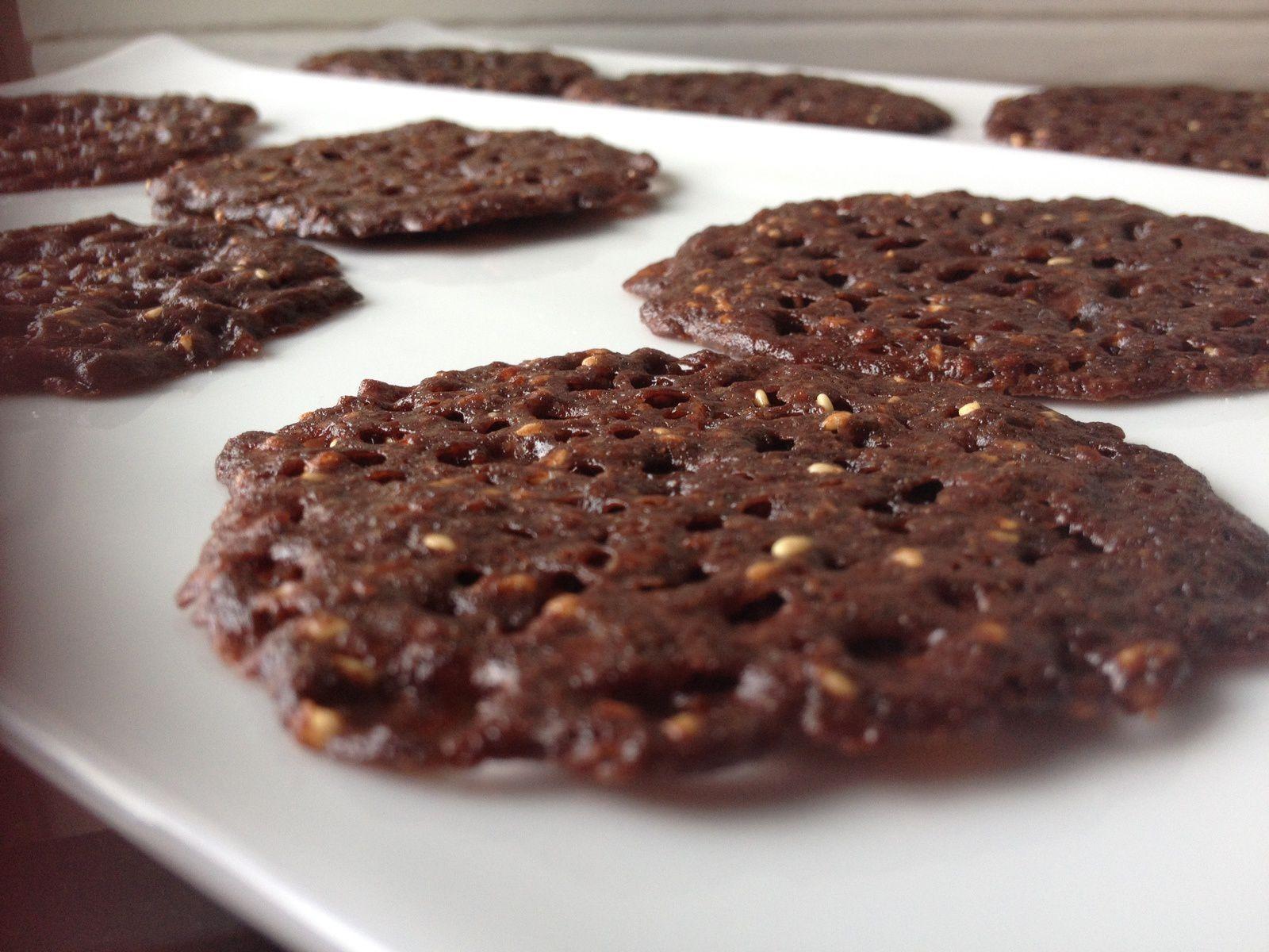 Tuiles dentelles cacao/sésame