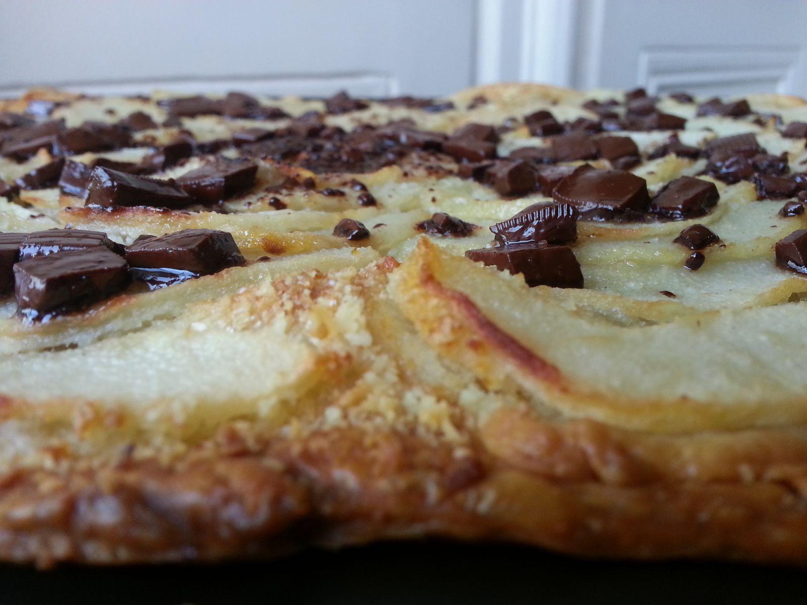 Tarte fine poire / chocolat