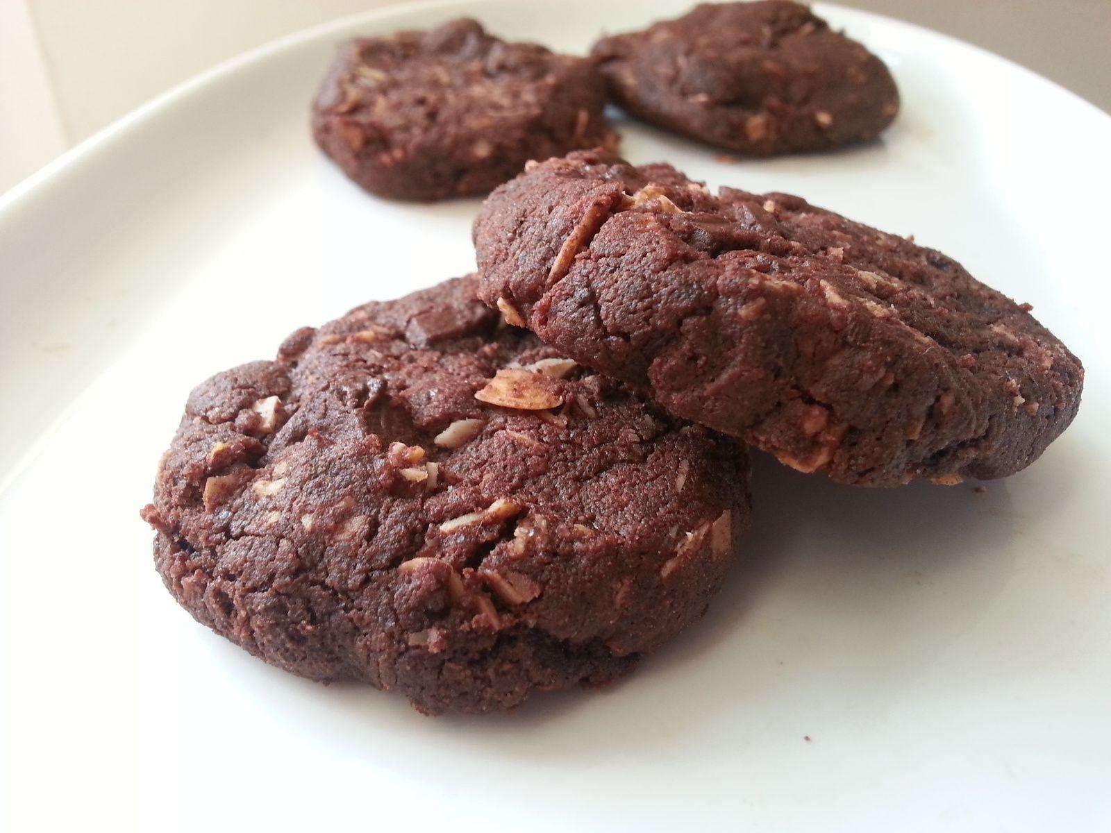Sablés très chocolat et amandes effilées