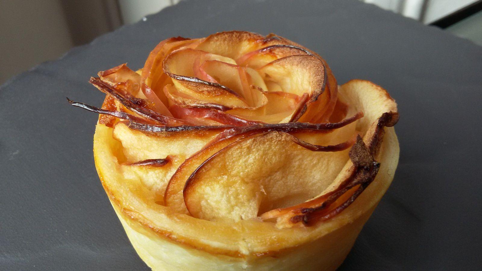 Roses feuilletées aux pommes ou comment revisiter la tarte aux pommes