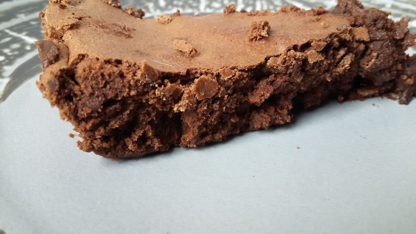 Gâteau au chocolat léger et sans gluten, cuisson express!!