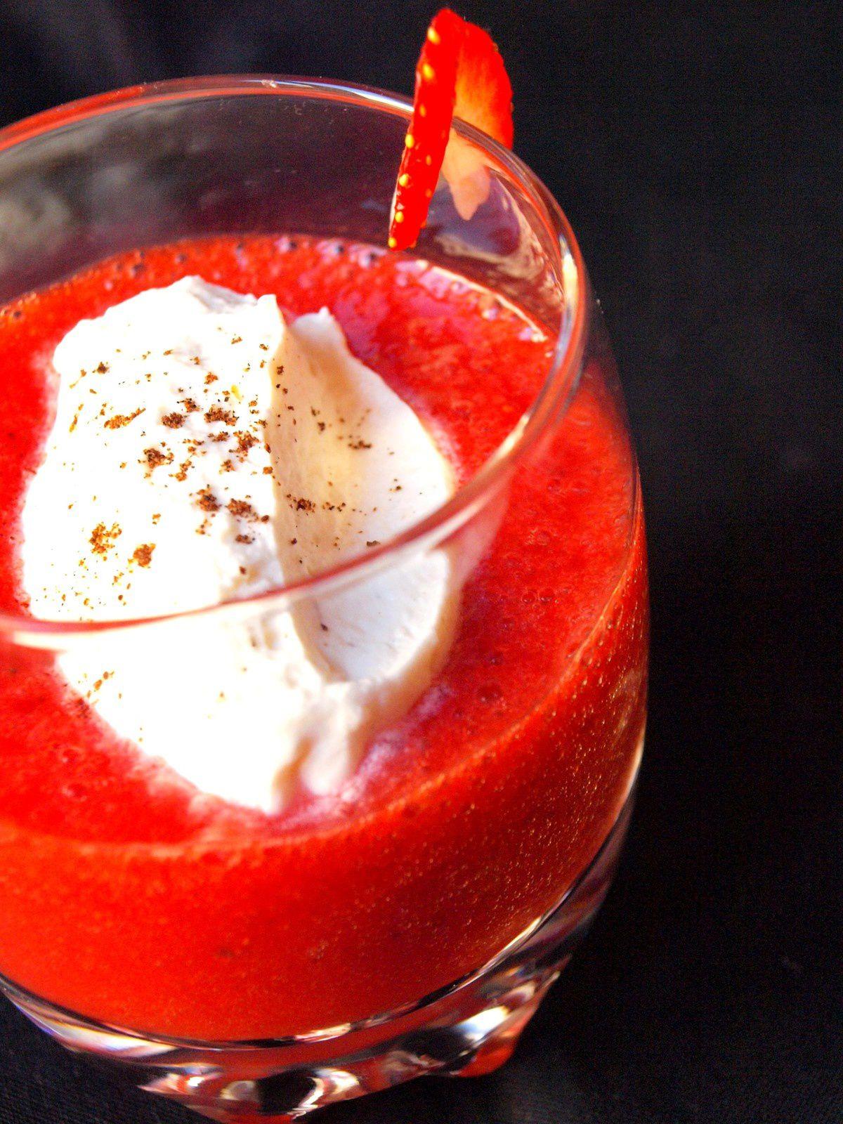 Cappuccino à la fraise