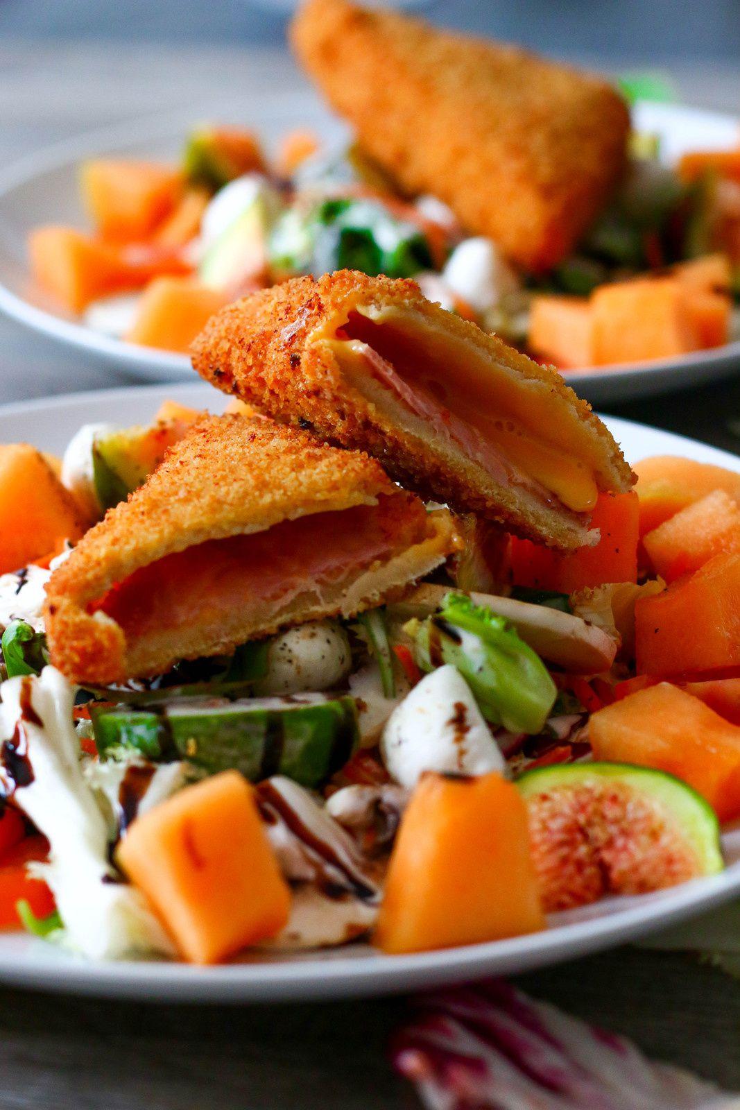 Salade composée sucrée/salée & croque-monsieur revisité