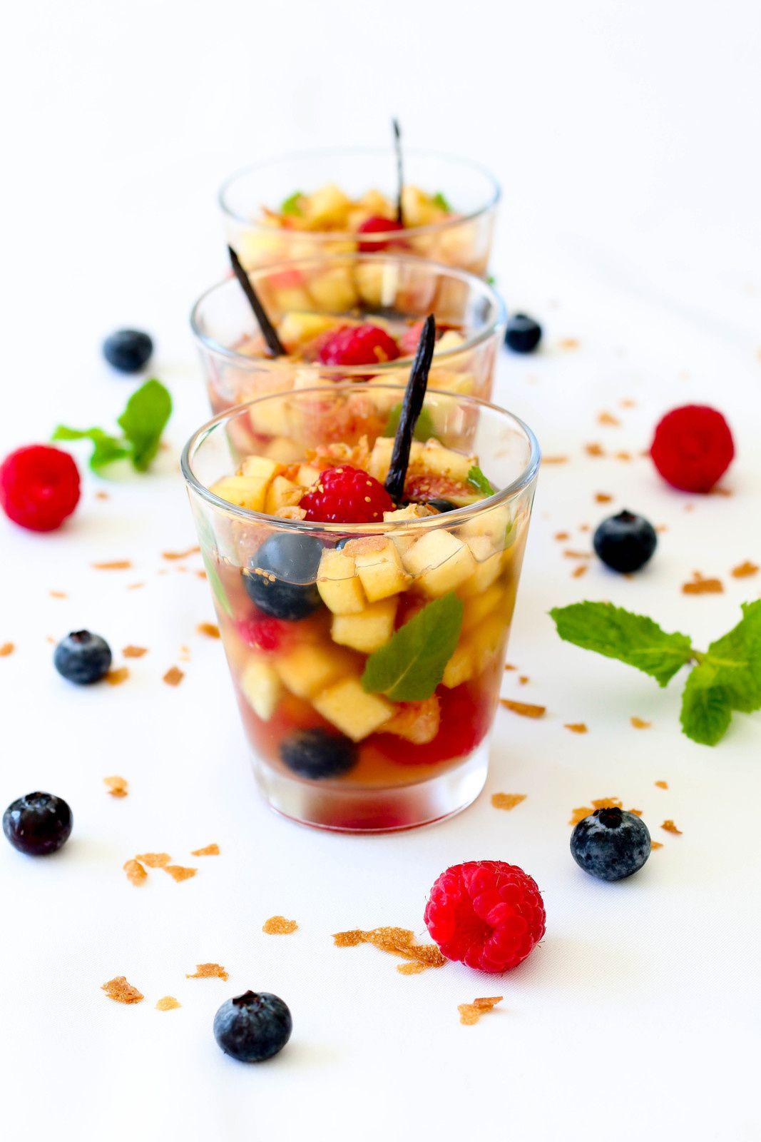 Fruits en gelée de verveine