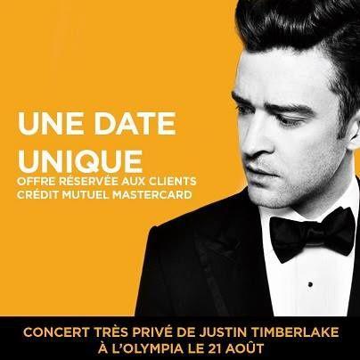 Justin Timberlake à l'Olympia: toutes les infos
