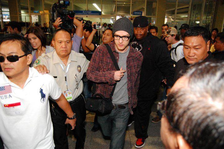 Justin Timberlake en concert aux Philippines en 2015