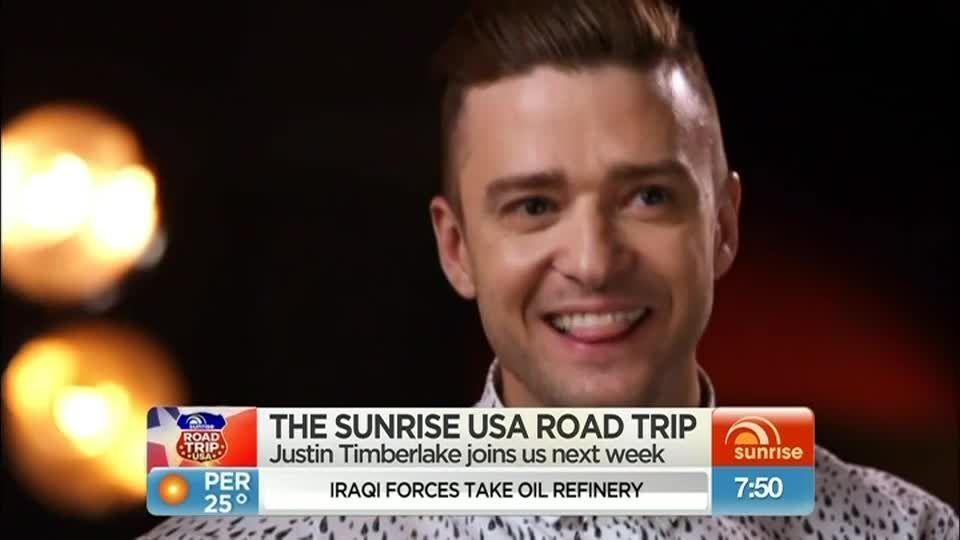 Justin dans l'émission Sunrise toute la semaine prochaine
