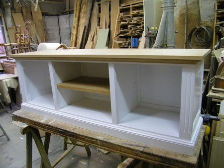 a pont audemer fabrication sur mesure d une table basse et meuble tv moderne pour client de. Black Bedroom Furniture Sets. Home Design Ideas