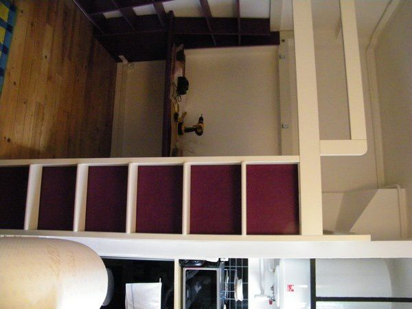 am nagement d un lit mezzanine dans un studio le havre. Black Bedroom Furniture Sets. Home Design Ideas