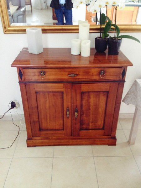 Relooking meuble peint biblioth que table bahut for Renovation de meubles anciens