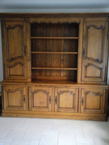 relooking meuble biblioth que ch ne une cr ation. Black Bedroom Furniture Sets. Home Design Ideas