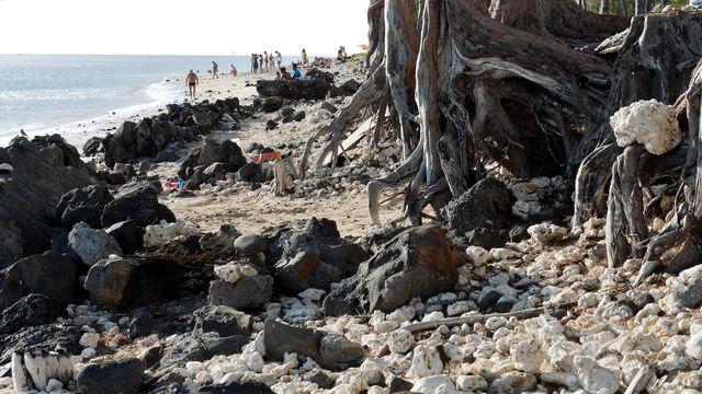 La Réunion 26 : la plage de Trou d'eau