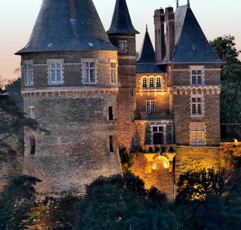 PORNIC : entre Gourmalon et le château au coucher de soleil