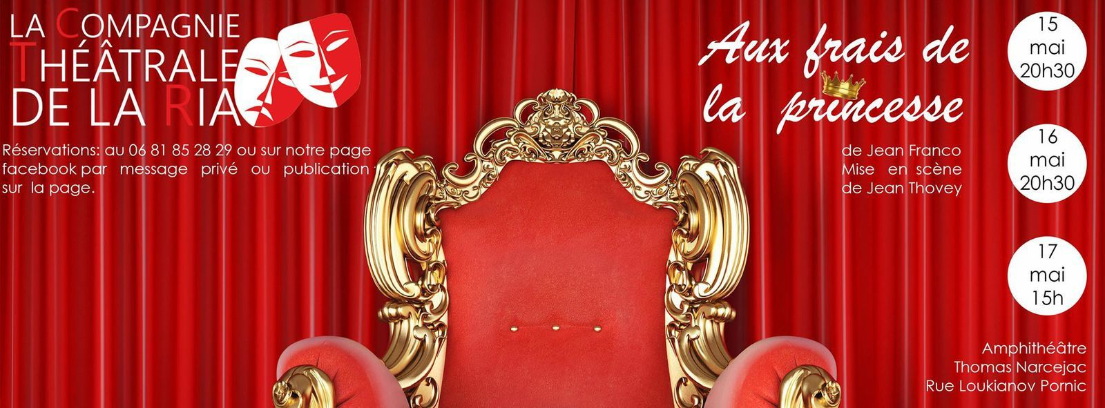 Théâtre : Aux frais de la princesse, Cie de la Ria