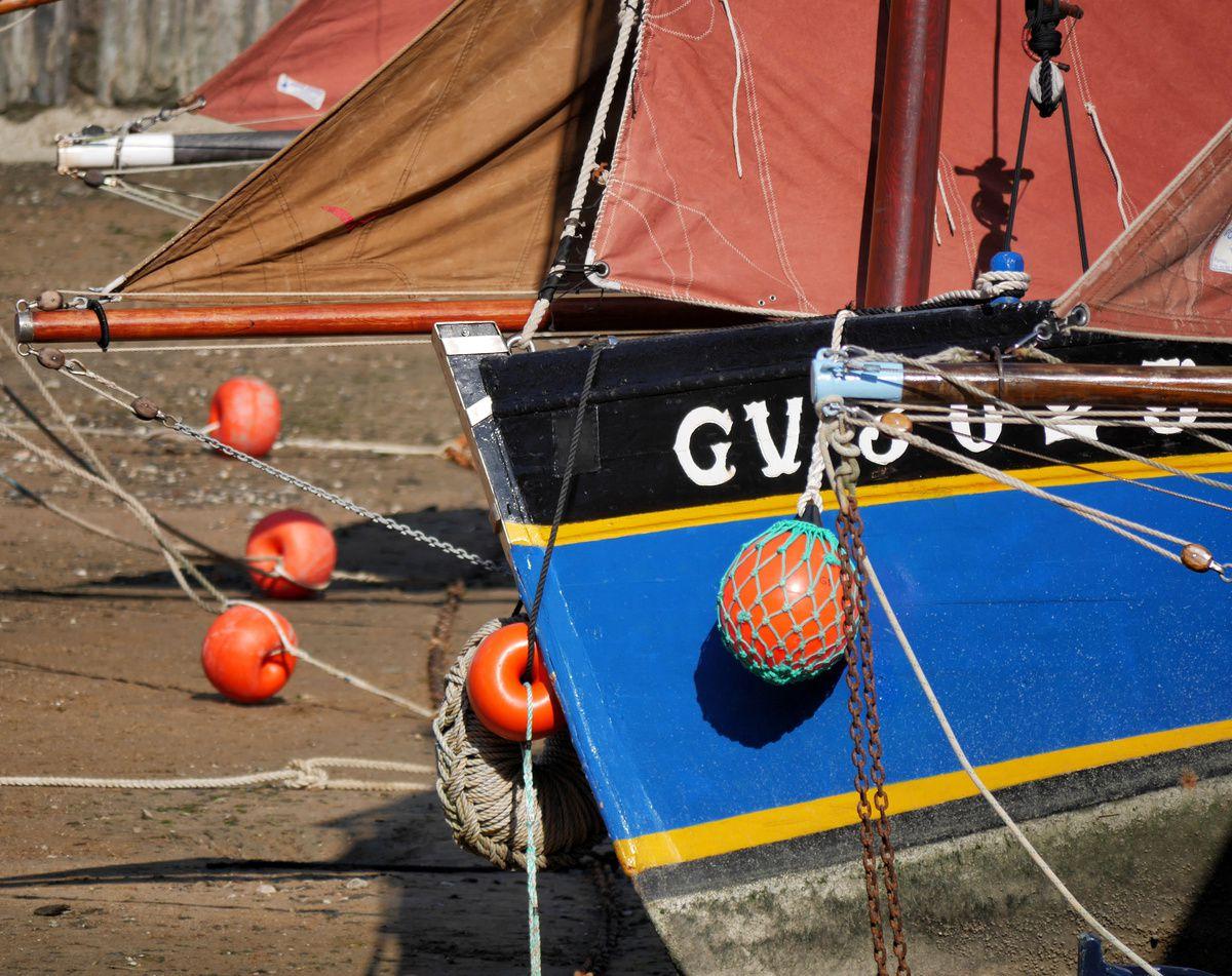 Pornic : échouage de bateaux anciens