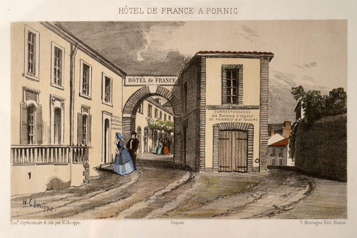 Expo Pornic Rêv...isitée : Max Ernst découvre la technique du frottage sur un vieux parquet de l'hôtel de France.