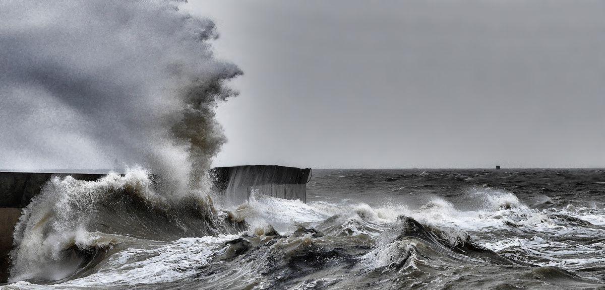 Tempête sur la côte Atlantique
