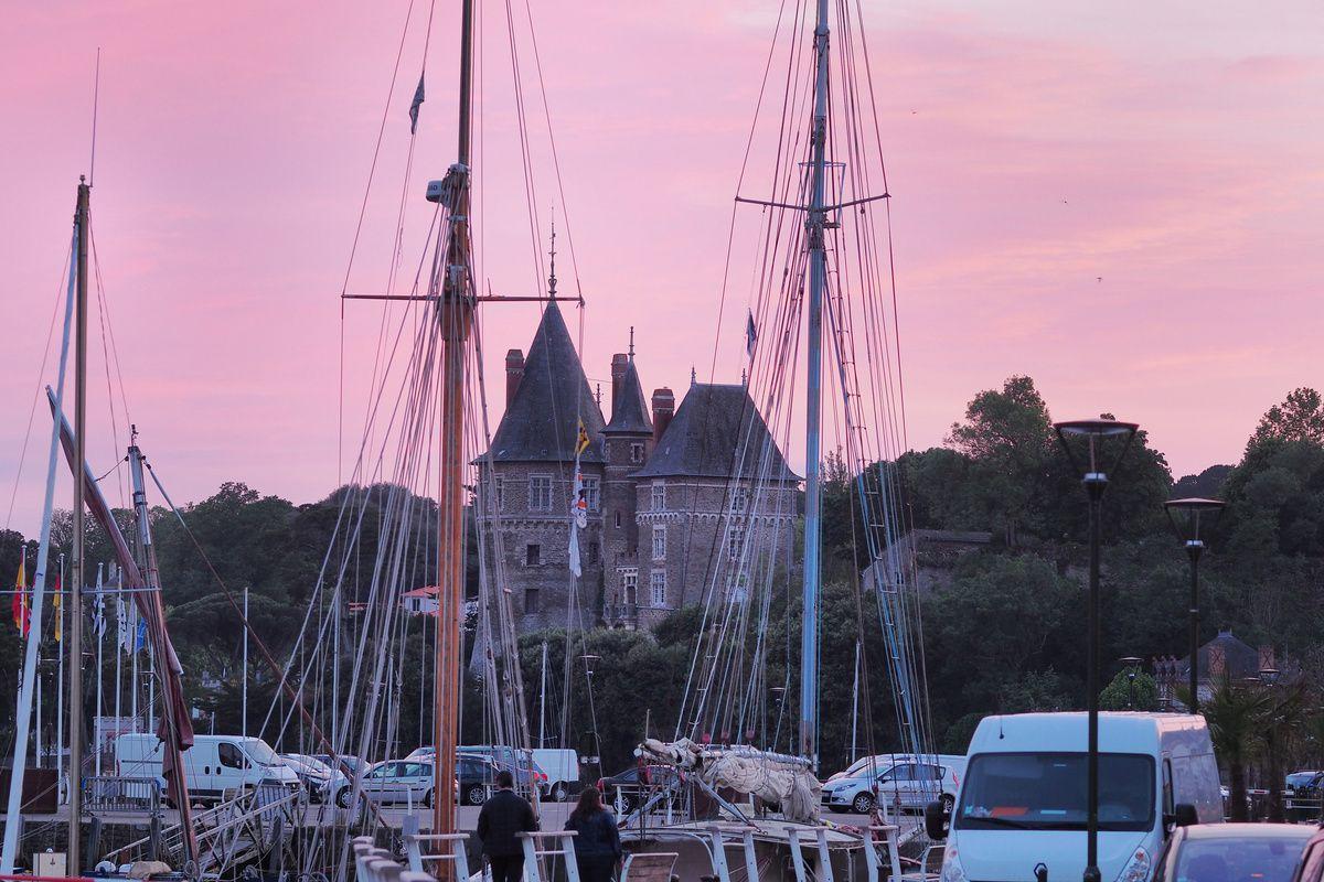 coucher de soleil inattendu sur le vieux port