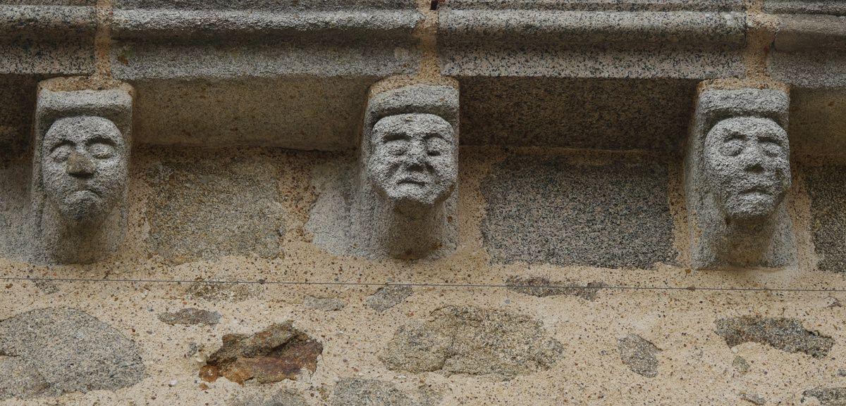 Les modillons de l'église de Pouzauges (85)