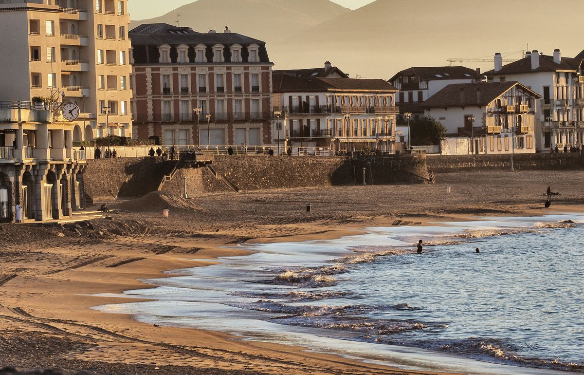 Saint-Jean-de-Luz : coucher de soleil