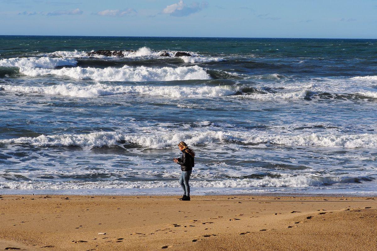 Biarritz : la grande plage et le casino