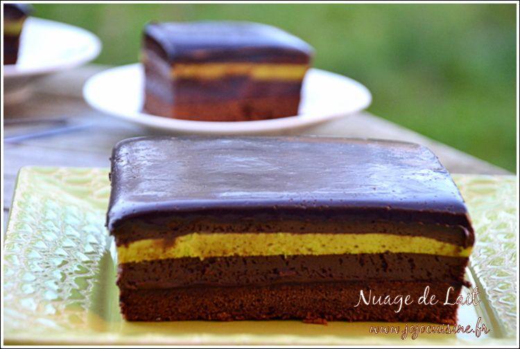 Entremet Chocolat et Crémeux Pistache