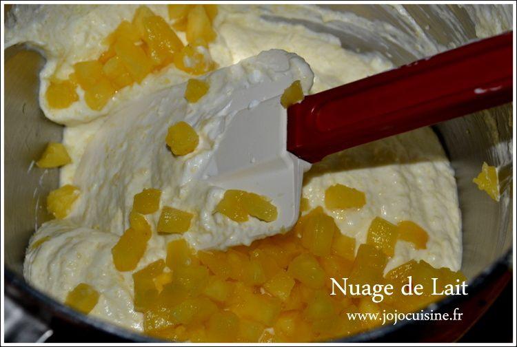 Carpaccio d'Ananas et sa Mousse d'Ananas Rhum Citron Vert