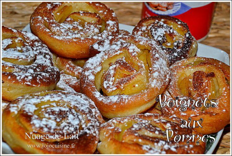 """Beignets roulés """"escargots"""" aux Pommes"""